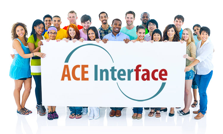 People hold ACE sign